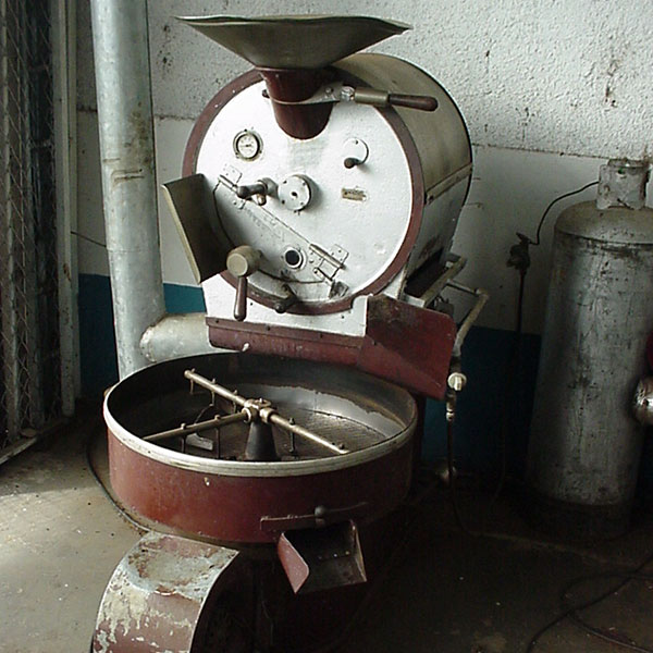 Old machine for roasting coffee