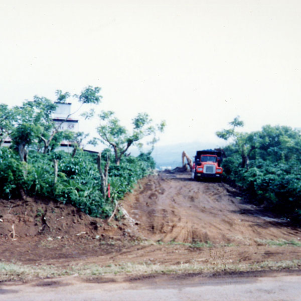 truck clearing a coffee plantation