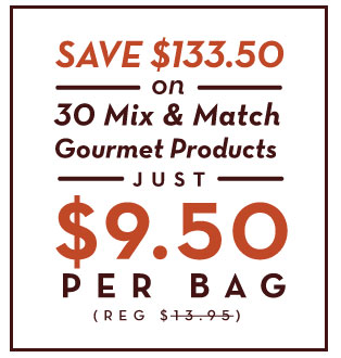 30 Mix and Match Gourmet products