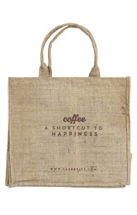 Coffee a shortcut to happinest Jute Bag